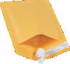 #000 4 x 8 Self-Seal Bubble Mailer Brown Kraft - Self Seal