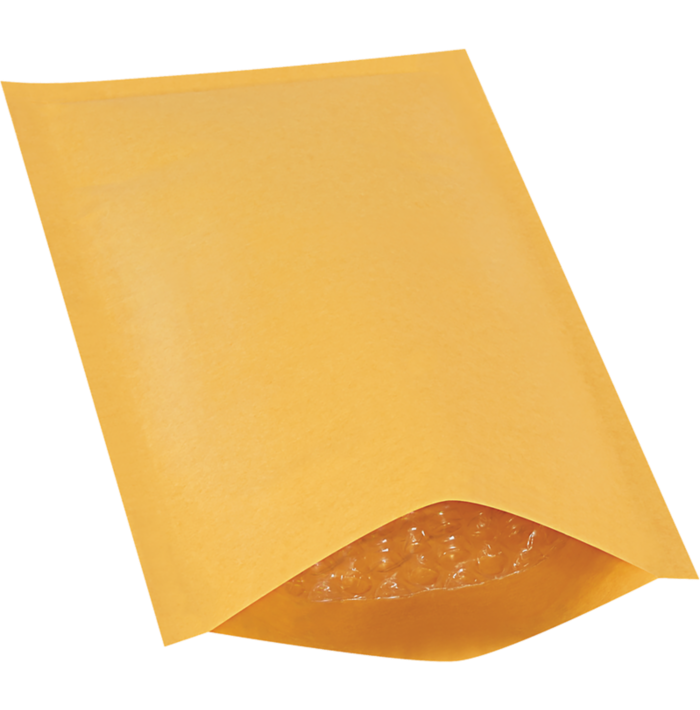 #00 5 x 10 Heat-Seal Bubble Mailer  Brown Kraft - Heat Seal