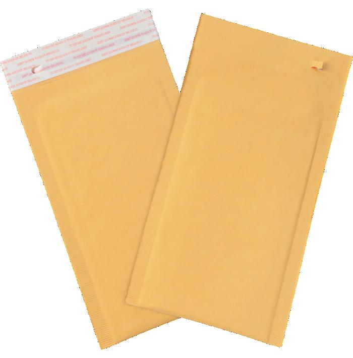 #00 5 x 10 Self-Seal Bubble Mailer w/Tear Strip Brown Kraft - Tear Strip