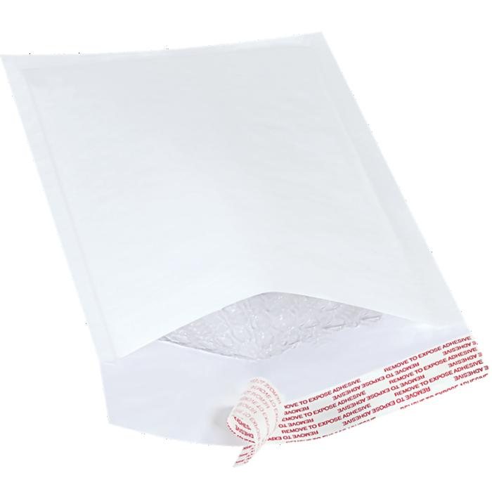 #00 5 x 10 Self-Seal Bubble Mailer White Kraft