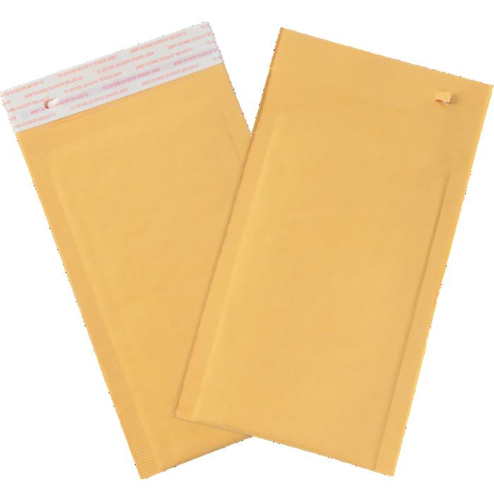 #0 6 x 10 Self-Seal Bubble Mailer w/Tear Strip Brown Kraft - Tear Strip