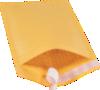 #1 7 1/4 x 12 Self-Seal Bubble Mailer  Brown Kraft - Self Seal