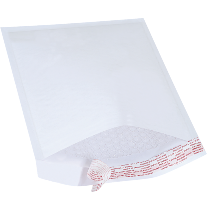 #2 8 1/2 x 12 Self-Seal Bubble Mailer White Kraft - Self Seal