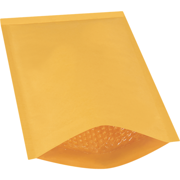 #4 9 1/2 x 14 1/2 Heat-Seal Bubble Mailer Brown Kraft - Heat Seal