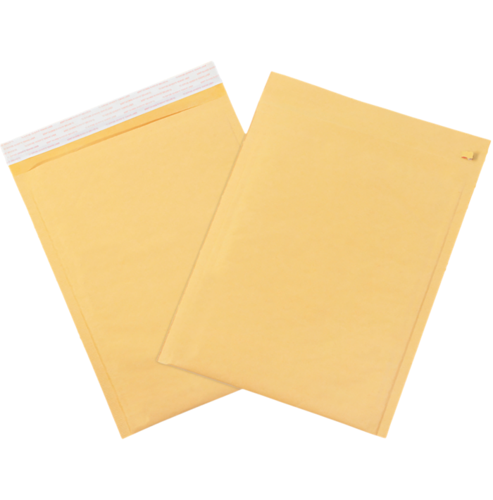 #4 9 1/2 x 14 1/2 Self-Seal Bubble Mailer w/Tear Strip Brown Kraft - Tear Strip