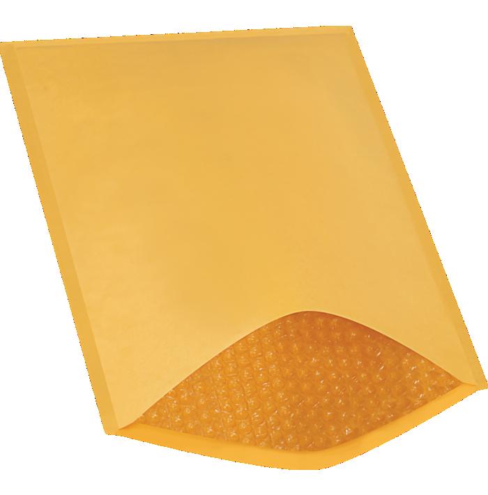 #5 10 1/2 x 16 Heat-Seal Bubble Mailer Brown Kraft - Heat Seal