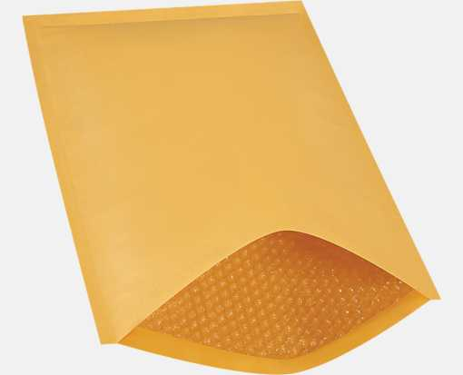 #6 12 1/2 x 19 Heat-Seal Bubble Mailer Brown Kraft - Heat Seal