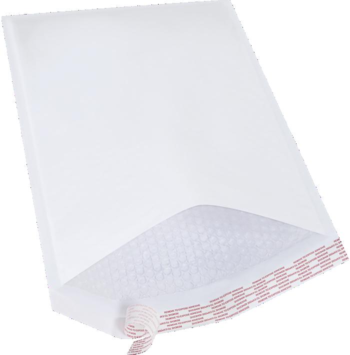 #6 12 1/2 x 19 Self-Seal Bubble Mailer White Kraft - Self Seal