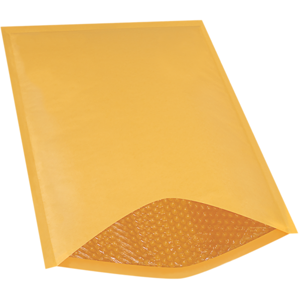 #7 14 1/4 x 20 Heat-Seal Bubble Mailer  Brown Kraft - Heat Seal