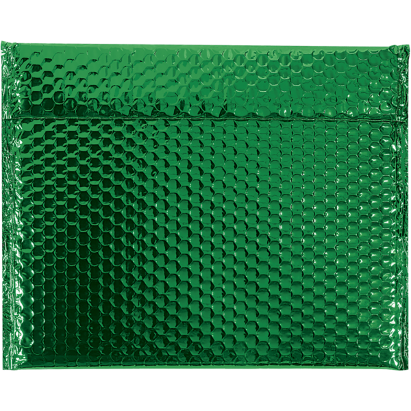 13 3/4 x 11 Glamour Bubble Mailer Green