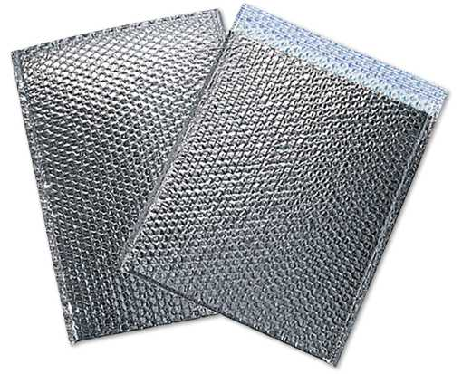 12 3/4 x 10 1/2 Cool Shield Bubble Mailer Silver