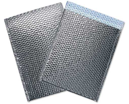 12 x 17 Cool Shield Bubble Mailer Silver