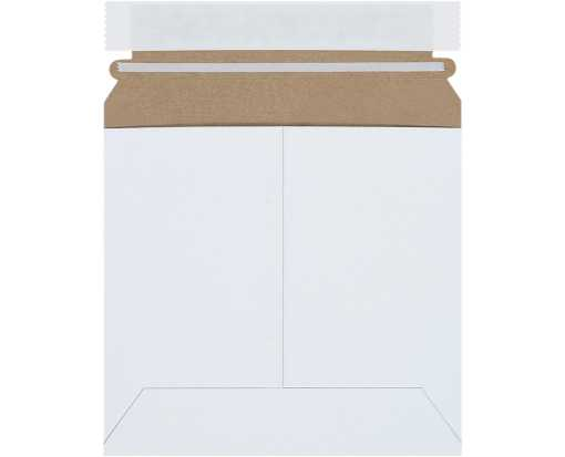 6 3/8 x 6 Self-Seal Stayflats Plus Mailer White