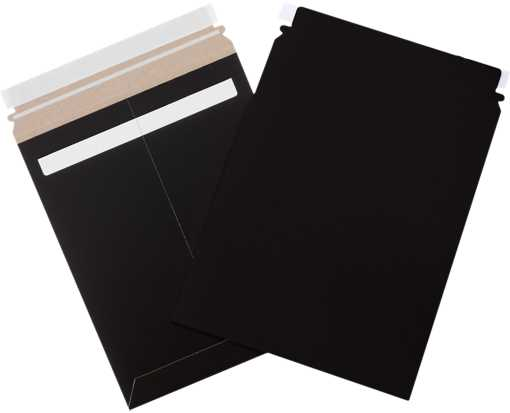 9 3/4 x 12 1/4 Self-Seal Stayflats Plus Mailer Black