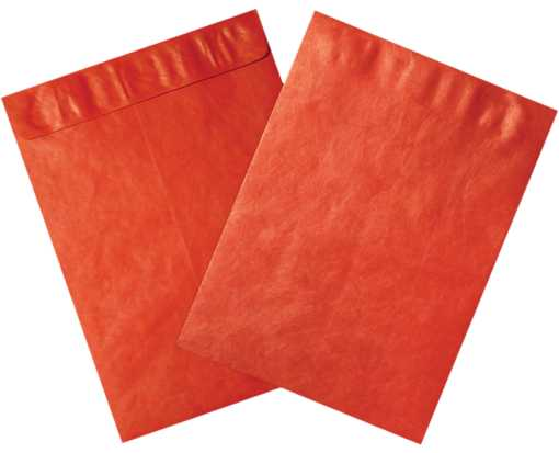 12 x 15 1/2 Open End Tyvek Envelope Red