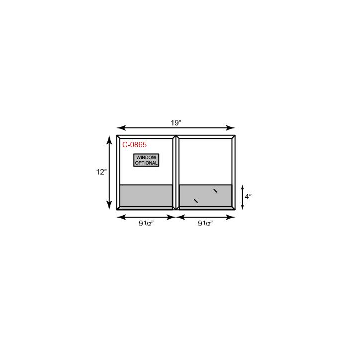9 1/2 x 12 CONFORMER Folder - Standard Two Pocket