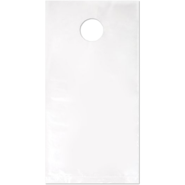 6 x 9 (Outer Dimension 6 x 12 + Hanger) LDPE Door Knob Bag (Pack of 100) Clear 1 Mil