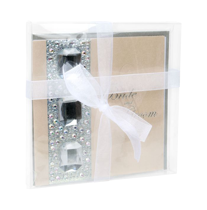 6 1/8 x 5/8 x 6 1/16 Crystal Clear Box (Pack of 25) Clear