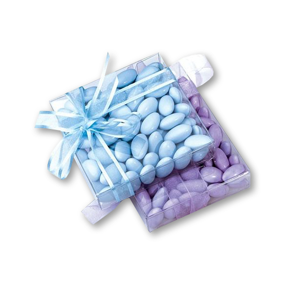 3 1/8 x 13/16 x 3 1/8 Crystal Clear Box - Clear (Pack of 25) Clear