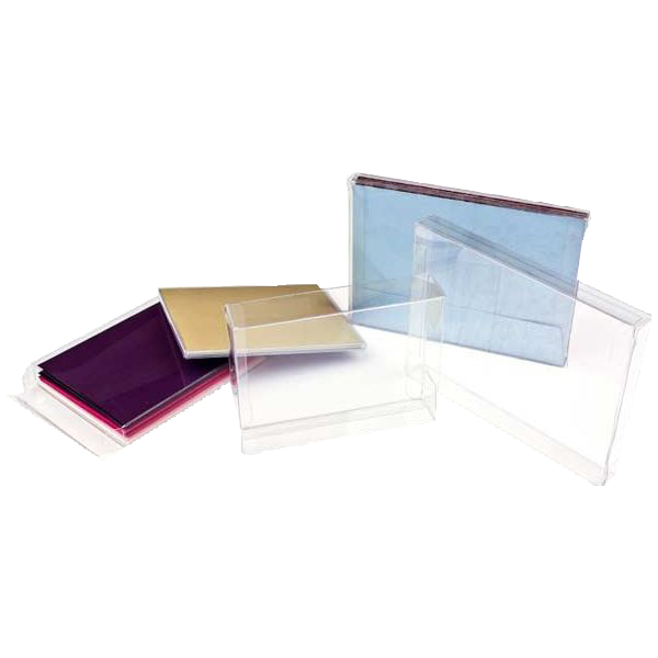 6 1/8 x 1 x 6 1/16 Crystal Clear Box (Pack of 25) Clear