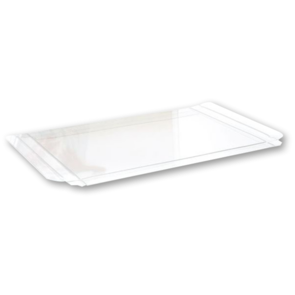 5 3/8 x 1/2 x 7 3/8 Crystal Clear Box - Clear (Pack of 25) Clear