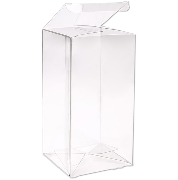 3 x 3 x 6 Crystal Clear Box w/Pop & Lock Top (Pack of 25) Clear