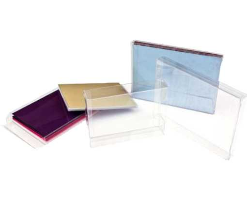 6 3/8 x 5/8 x 6 5/16 Crystal Clear Box (Pack of 25) Clear