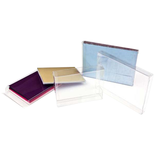 6 3/8 x 1 x 8 3/8 Crystal Clear Box (Pack of 25) Clear