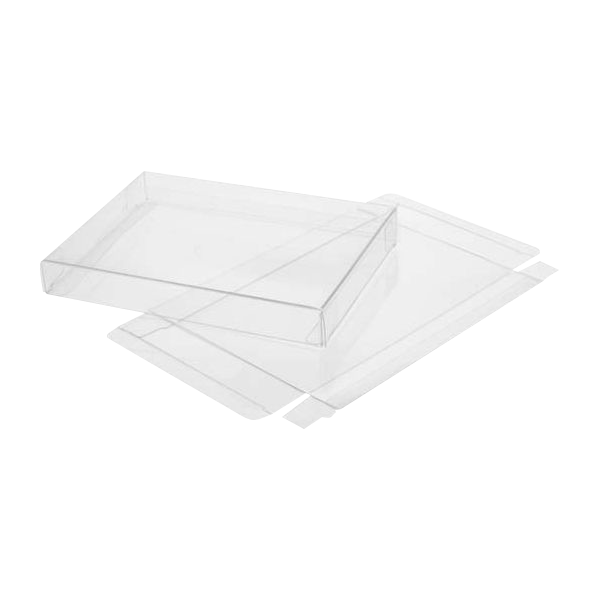 12 1/8 x 5/8 x 12 1/8 Crystal Clear Box (Pack of 25) Clear