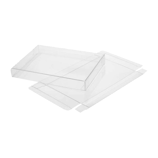 8 1/8 x 5/8 x 8 1/8 Crystal Clear Box - Clear (Pack of 25) Clear