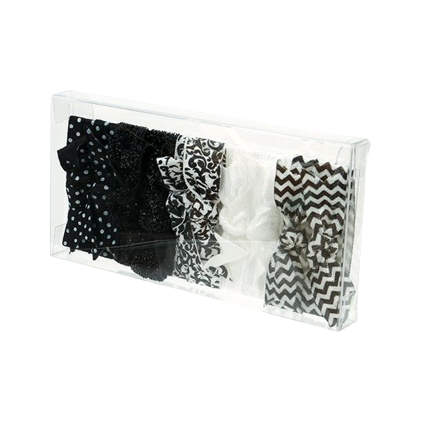 2 3/4 x 9/16 x 5 7/16 Crystal Clear Box (Pack of 25) Clear