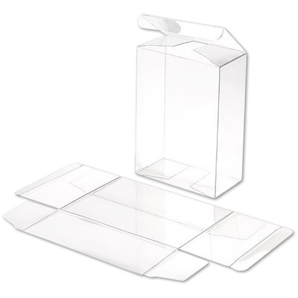 3 3/4 x 2 x 5 3/16 Crystal Clear Box w/Pop & Lock Top (Pack of 25) Clear