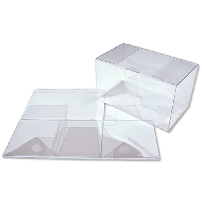 7 x 4 x 4 Crystal Clear Box w/Pop & Lock Top (Pack of 25) Clear