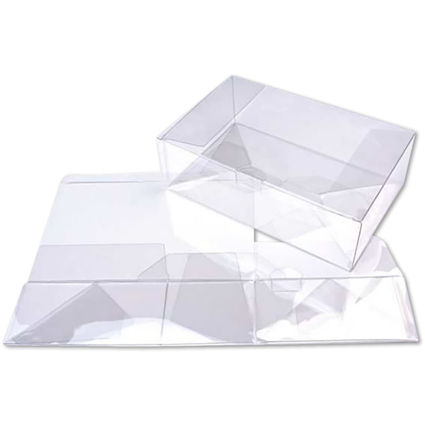 9 1/2 x 6 x 3 Crystal Clear Box w/Pop & Lock Top (Pack of 25) Clear