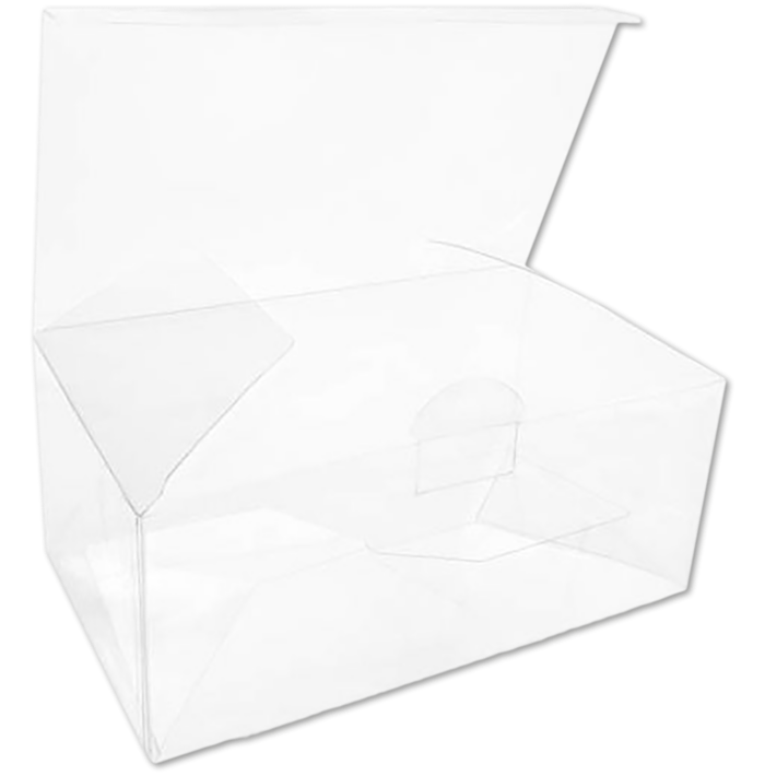 7 x 4 x 3 Crystal Clear Box w/Pop & Lock Top (Pack of 25) Clear