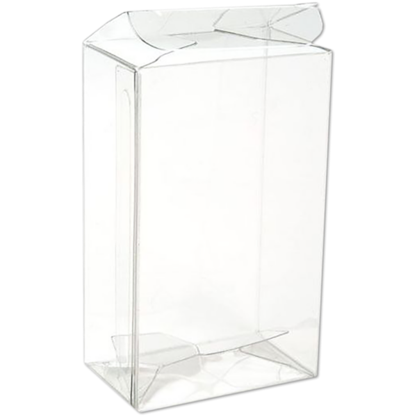 2 1/8 x 1 1/4 x 3 5/8 Crystal Clear Box w/Pop & Lock Top (Pack of 25) Clear