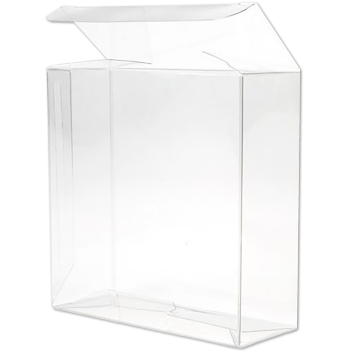 4 1/4 x 1 5/8 x 4 1/4 Crystal Clear Box w/Pop & Lock Top (Pack of 25) Clear