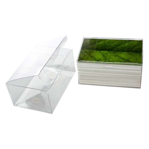6 1/8 x 4 1/8 x 3 Crystal Clear Box - Clear (Pack of 25) Clear