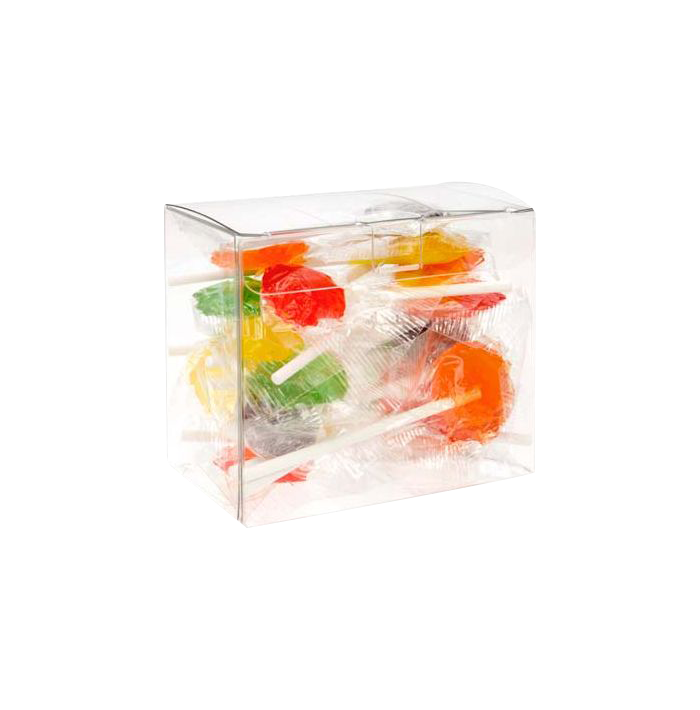 3 5/8 x 2 1/8 x 3 Crystal Clear Box (Pack of 25) Clear