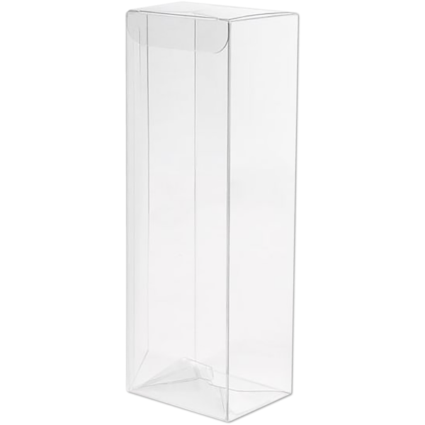 2 9/16 x 2 x 7 1/2 Crystal Clear Box w/Pop & Lock Top (Pack of 25) Clear
