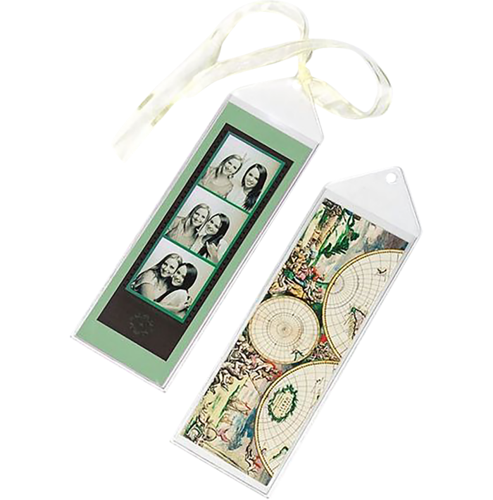 2 1/2 x 7 1/8 Hanging Vinyl Bookmark Sleeve (Pack of 100) Clear