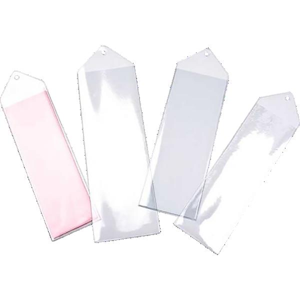 2 11/16 x 8 1/4 Hanging Vinyl Bookmark Sleeve Clear