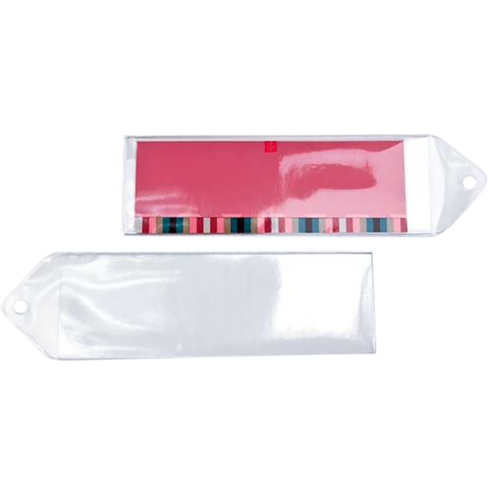 1 13/16 x 5 11/16 Hanging Vinyl Bookmark Sleeve (Pack of 100) Clear