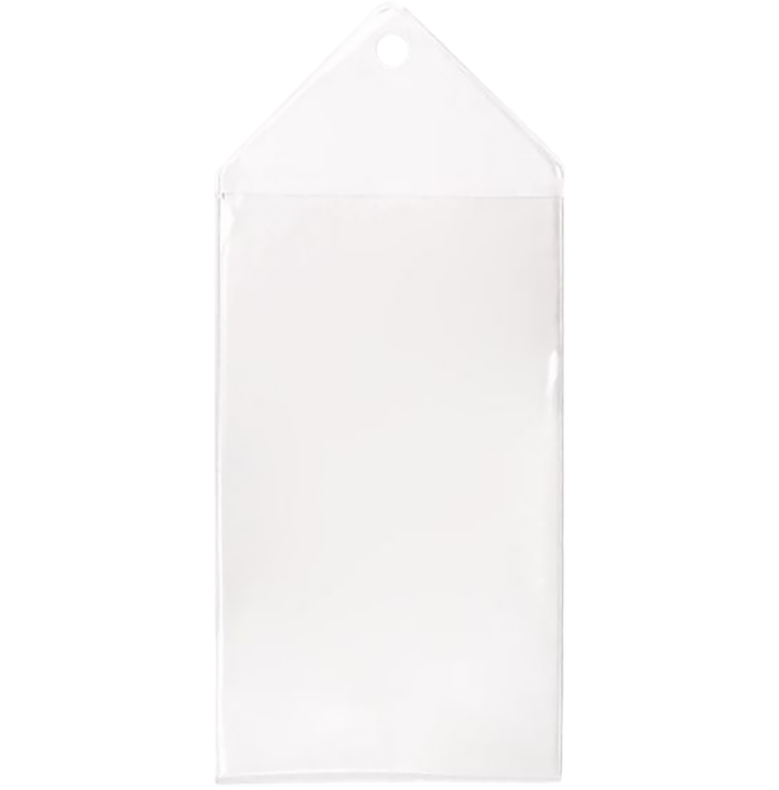 2 5/8 x 4 1/2 Hanging Vinyl Bookmark Sleeve (Pack of 100) Clear