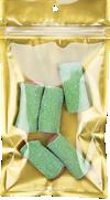 4 x 6 1/2 Hanging Zipper Barrier Bag w/Tear Notches (Pack of 100) Gold Metallic w/Tear Notches