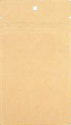 3 x 4 1/2 Hanging Zipper Barrier Bag w/Tear Notches (Pack of 100) Brown Kraft w/Tear Notches