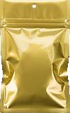3 5/8 x 5 Hanging Zipper Barrier Bag (Pack of 100) Gold Metallic