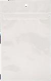 3 5/8 x 5 Hanging Zipper Barrier Bag (Pack of 100) White Metallic