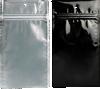 4 x 6 1/2 Hanging Zipper Barrier Bag (Pack of 100) Black w/Silver Metallic