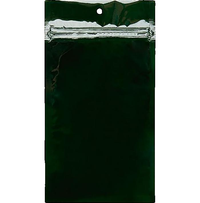 4 x 6 1/2 Hanging Zipper Barrier Bag (Pack of 100) Hunter Green